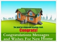 Sample Messages and Wishes! : Housewarming/ New Home Messages