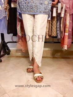 Types & Styles of Tulip Pants Latest Trends 2016 in Pakistan- Laced (4)