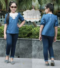 Denim top with pants · Tuyetclothing · Online Store Powered by Storenvy