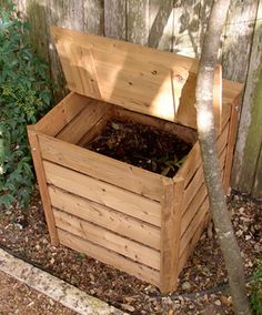ECO Wood Compost Bin - $260! Pretty sure The Hubbs could build this...