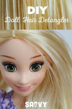 DIY Doll Hair Detangler #dollhairdetangler