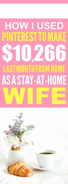 How she made over $10,000 from home is SO COOL! I'm so happy I found these AWESOME tips! Now I have a great way to make money from home! I'm glad she talked about how to make money blogging! Such a good side hustle idea! Definitely pinning this!