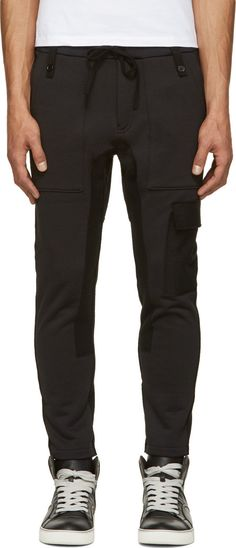 John Undercover - Black Cargo Lounge Pants