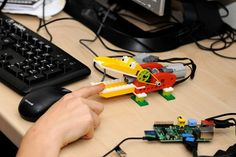 The Havas EHS team take part in a collaborative project in a local school to help teach over 200 4-11 year olds to write their first code on a $30 computer to control a Lego robot croc.
