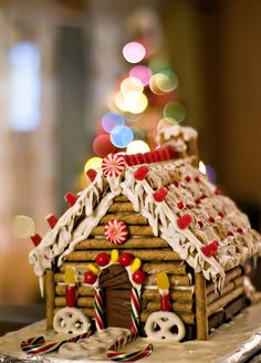 gingerbread log cabin by mommyknows, via Flickr