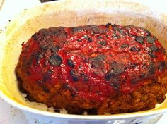 The Mighty Vegetarians Meatless Meatloaf-  Looks, smells, and tastes like the real thing.