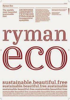 """Ryman Eco – a nova fonte """"sustentável."""