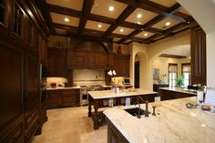 Kitchen Mediterranean Style Custom Home  Avida Custom Homes  www.avidacustomhomes.com