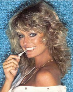 Farrah Fawcett - that famous hair, those eyes, that smile.  Jill Monroe , she was married to Steve Austin/The Six Million Dollar Man (regardless of what made their marriage fail, he HAD to be better than Fuckhead O'Neal). RIP sweet, gorgeous lady.