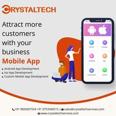CRYSTALTECH™ mobile app development is the best organization, available in Indore location where you could get the finest quality of mobile apps that are suitable for every device like android, iPhone/iPad, windows. Are you looking to build standard mobile app development? Then CRYSTALTECH™ is the leading firm in Indore, India. Here, Get mobile app development services to streamline your business growth. Whatsapp or Call:- +91 9826067554 +91 9753349215 Website:- www.crystaltechservices.com It Service Provider, App Development, Android Apps, Mobile App, Indore, Phone, Business, Ipad, Organization