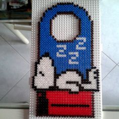 Snoopy door hanger hama beads by Tensartist