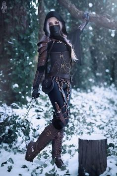 Tagged with cosplay, larp; Warrior Outfit, Badass Outfit, Warrior Girl, Warrior Women, Warrior Fashion, Cosplay Outfits, Anime Outfits, Cosplay Girls, Cute Outfits