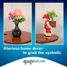 Make your home a stylish place with none other than the superb range of home décor items available on www.waahkart.com. Our exclusive and beautiful range of home décor is #artfully #crafted, hence will surely grab the eyeballs of your visitors.  #HomeDecor #Decoration #WaahKart #OnlineShoppinginIndia #StylishDecor