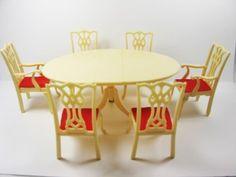 Vintage-Marx-Little-Hostess-Dining-Room-Set-Chairs-Table-Miniature-Dollhouse-73