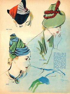 Gorgeous hats. I love the draping on the turbans.