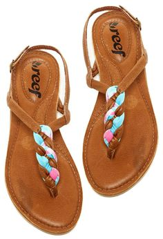 Reef Sandals - Braided with Dyed Fabrics, so cute!