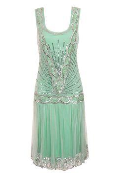 MINT SEQUIN CHARLESTON FLAPPER uk 8 10 12 14 16 GATSBY dress 20's ART DECO #20s #Cocktail