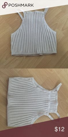 Crop top Stretchy ribbed crop top. Never worn Urban Outfitters Tops Crop Tops
