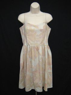 H&M Peach Lavender Floral Sundress Dress Pleated Spaghetti Straps 12 New w Tags #HM #Sundress #Casual