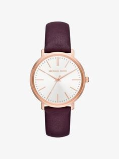 Jaryn Rose Gold-Tone and Leather Watch  d23ad49cd4dc