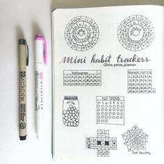 "565 Likes, 22 Comments - The Petite Planner (@the.petite.planner) on Instagram: ""Mini Habit Trackers """