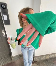 Stylish Nails, Trendy Nails, Cute Acrylic Nails, Gel Nails, Maquillage Kendall Jenner, Nail Design Glitter, How To Have Style, Nagellack Design, Acylic Nails