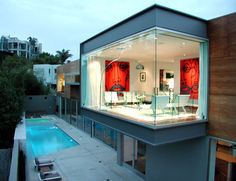 Los Angeles, California, the modern Beuth Residence on Blue Jay Way by design principal Zoltan E. Pali of SPF Architects
