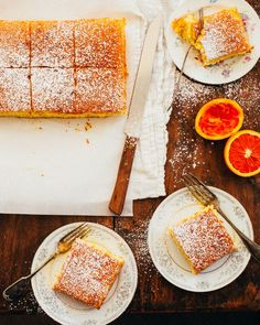 Make this authentic Portuguese orange cake from scratch! This easy Portuguese orange cake is moist, yummy and has the most amazing bright orange flavour. Best Cake Recipes, Sweet Recipes, Dessert Recipes, Favorite Recipes, Gourmet Desserts, Plated Desserts, Portuguese Desserts, Portuguese Recipes, Food Cakes