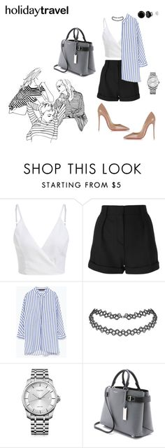 """""""strip is my thing"""" by ratsame on Polyvore featuring IRO, Zara, Calvin Klein, Michael Kors and Christian Louboutin"""