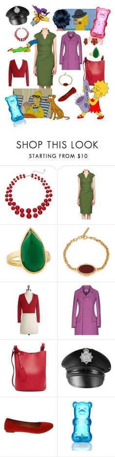 """""""Marge"""" by missmoxxie ❤ liked on Polyvore featuring Jolie Moi, Ippolita, Mulberry, Dondup, Burberry, ANGELINA, FCTRY, Bling Jewelry, thesimpsons and margesimpson"""