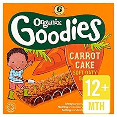 Organix Goodies Organic Carrot Cake Cereal Bar - 6 x - Honabuy Dried Bananas, Dried Blueberries, Dried Apricots, Healthy Crisps, Healthy Snacks, Carrot Cake Bars, Buckwheat Noodles, Baby Cereal