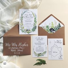 Wedding invitation suite, nature inspired. Lush watercolour wedding invitations with hand lettering. Envelope liners and hand lettered addressed envelopes.  #nzweddings #nzweddingideas #nzweddingstationery #nzweddingcalligraphy #weddingstationery #weddinginspo #envelopeliner #weddinginvitation #invitationsuite #nznature #nzweddinginvitation #miromiro #nztomtit #watercolorwreath #watercolorwedding #watercolorinvitation #weddinginspiration #lettering #handletteredenvelopes #weddingenvelope