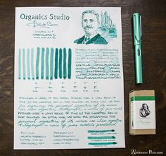 Organics Studio Frank Baum Anderson Pens, Fountain Pen Nibs, Writing Instruments, In Writing, Brush Pen, Ink Color, Filofax, Stationery, Pen Pals