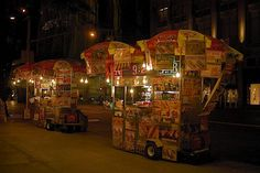 Hot Dog Carts on Fifth Avenue
