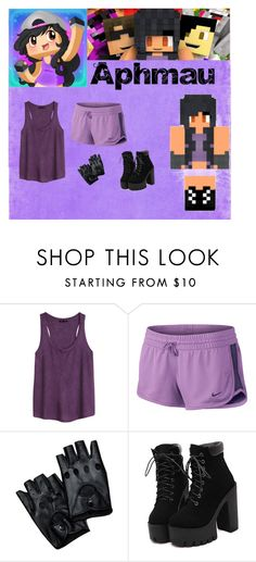 """14th Day of Setmas Aphmau"" by juliasfashionchoice ❤ liked on Polyvore featuring H&M and NIKE"