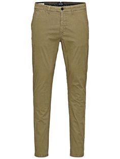 Jeans Intelligence - Gemusterte Chinos von JEANS INTELLIGENCE - Slim fit - Low rise - Schmal geschnittene Oberschenkel und Skinny-Fit-Passform am Knie - Enger Beinabschluss - Hosenschlitz mit Reißverschluss - Schrägtaschen an der Vorderseite - Doppelte Leistentaschen mit Knopfverschluss hinten - Markenlogo-Patch hinten - Das Modell trägt Größe 32/32 und ist 187 cm groß 97% Baumwolle, 3% Elastha...