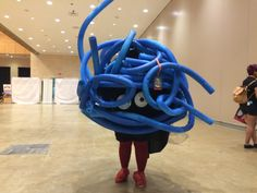 Tangela cosplay made from pool noodles!