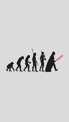 Darth Vader Human Evolution iPhone 5 Wallpaper