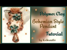 Polymer Clay Bohemian Style Pendant Tutorial - YouTube