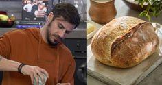 Άκης Πετρετζίκης: Σπιτική συνταγή για χωριάτικο ψωμί χωρίς ζύμωμα, πιο νόστιμο και από του φούρνου – Enimerotiko.gr Bread, Food, Jars, Brot, Essen, Baking, Meals, Breads, Buns