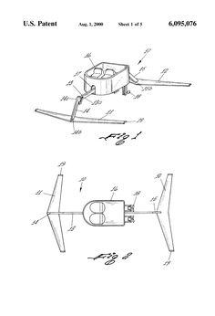 Patent US6095076 - Hydrofoil boat - Google Patents