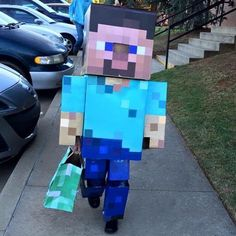 Creeper Costume, Steve Costume, Cute Costumes, Costume Ideas, Minecraft Costumes, Halloween Outfits, Creepers, Projects, Kids