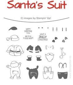 144827G stampin up santas suit stamps bundle santa clause nikolaus weihnachtsmann