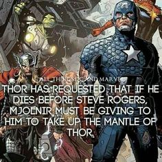The bond between Thor and Steve Rogers.