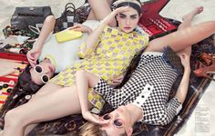 "The Terrier and Lobster: ""Spring Break"": Antonina Vasylchenko, Victoria Tuaz, and Valeriya Melnik by Charlie Engman for Jalouse June 2013 Fashion Shoot, Editorial Fashion, Fashion Models, Antonina Vasylchenko, Beach Bum, Dress Codes, Spring Break, Fashion Photography, Vogue"