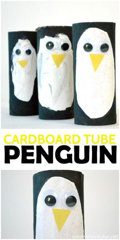 Tube Penguin Craft Turn recycled materials into the cutest colony of penguins with this Cardboard Tube Penguin kids craft.Turn recycled materials into the cutest colony of penguins with this Cardboard Tube Penguin kids craft. Animal Activities, Animal Crafts, Winter Activities, Craft Activities, Polar Animals Preschool Crafts, Nanny Activities, Toddler Crafts, Crafts For Kids, Recycled Crafts