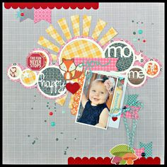 JBS Happy Moments - Scrapbook.com  This adorable layout was made with products from Jillibean Soup.