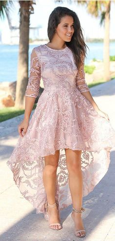 Pink Half Sleeves Jewel Short Homecoming Dresses Online, Cheap Short P – SposaDresses Cheap Short Prom Dresses, Pink Formal Dresses, Formal Dresses Online, Junior Prom Dresses, Prom Dresses For Sale, Plus Size Prom Dresses, Prom Dresses With Sleeves, A Line Prom Dresses, Modest Homecoming Dresses