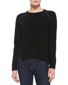 Cashmere+Sweater+with+Suede+Patches+by+10+Crosby+Derek+Lam+at+Neiman+Marcus.