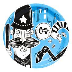 Boîte à fête policiers et voleurs pour l'anniversaire de votre enfant - Annikids